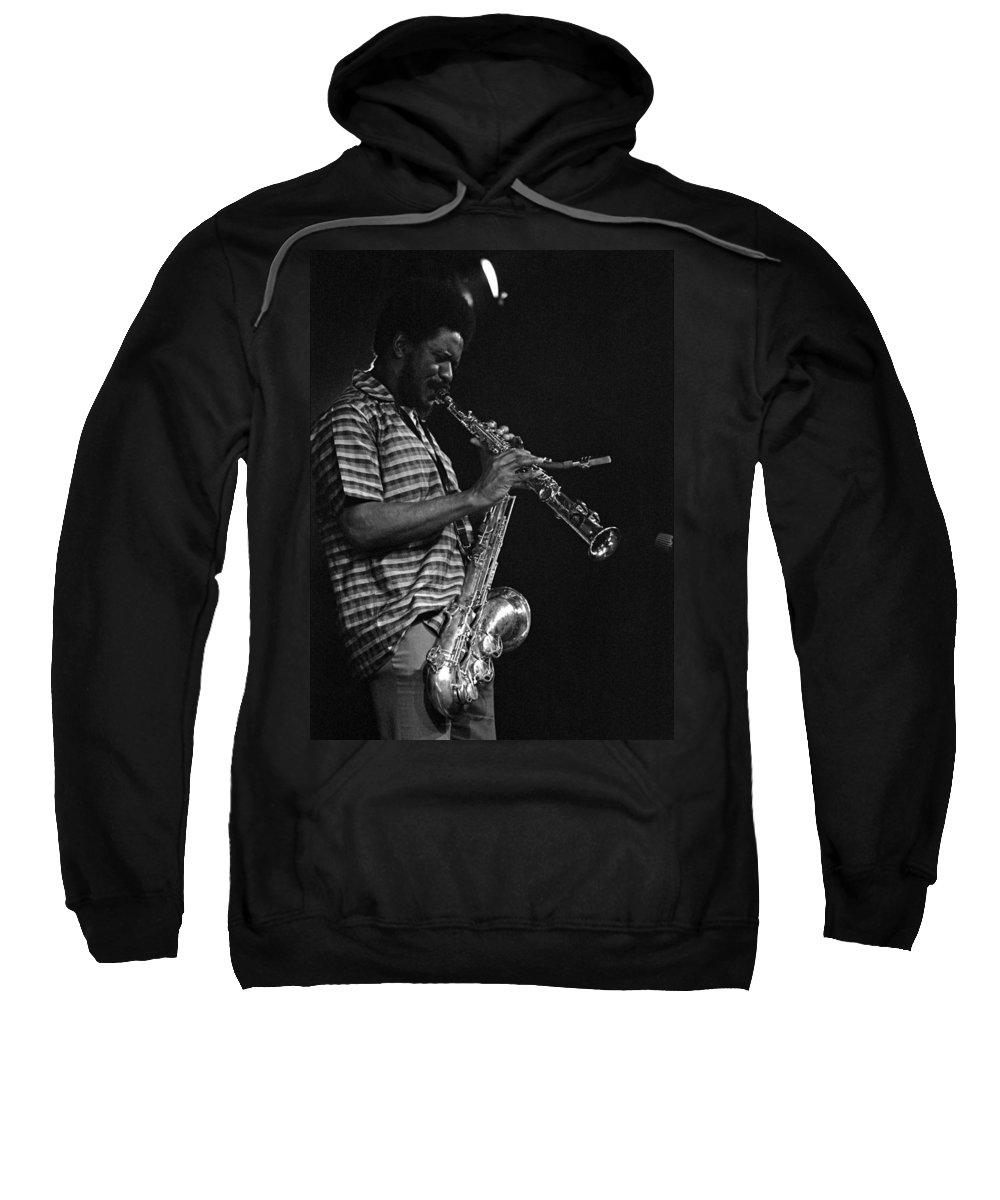 Pharoah Sanders Sweatshirt featuring the photograph Pharoah Sanders 4 by Lee Santa