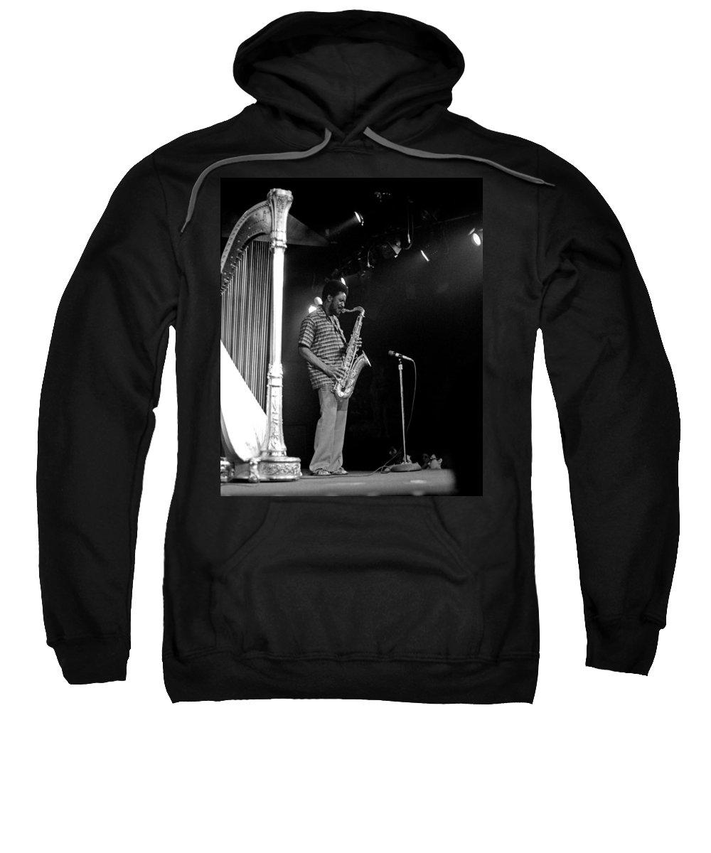 Pharoah Sanders Sweatshirt featuring the photograph Pharoah Sanders 5 by Lee Santa