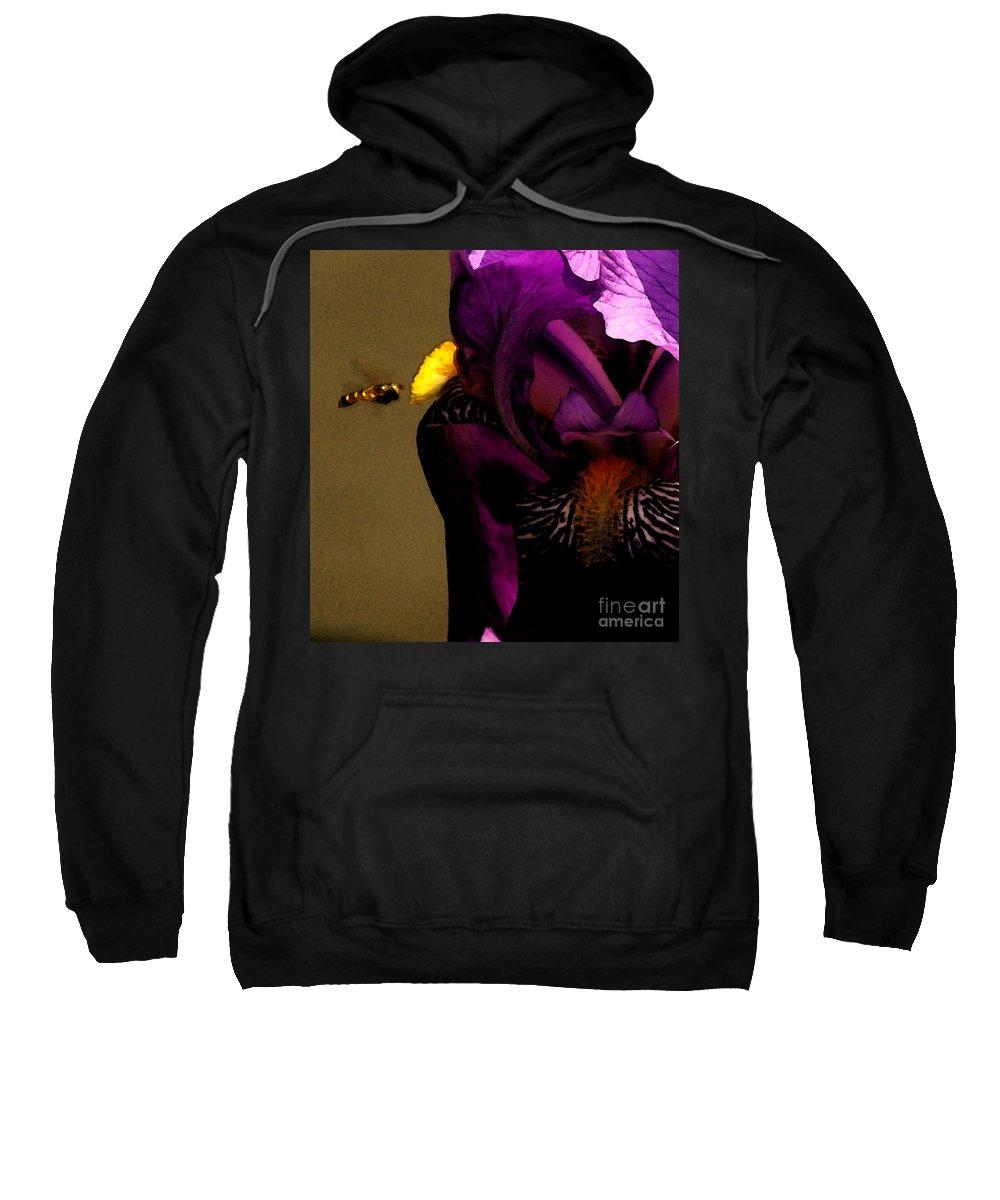 Bee Sweatshirt featuring the photograph Pheromone by Linda Shafer