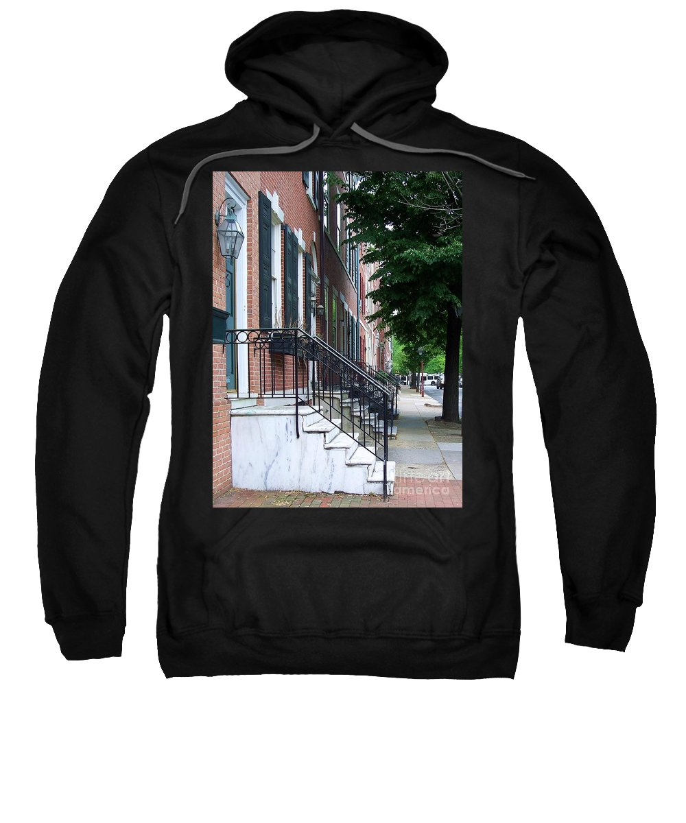 Architecture Sweatshirt featuring the photograph Philadelphia Neighborhood by Debbi Granruth