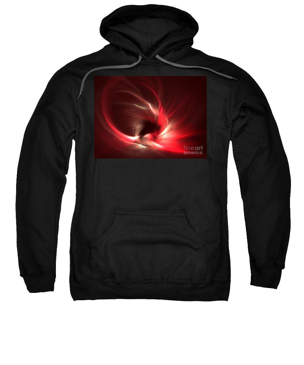 Apophysis Sweatshirt featuring the digital art Phoenix by Kim Sy Ok