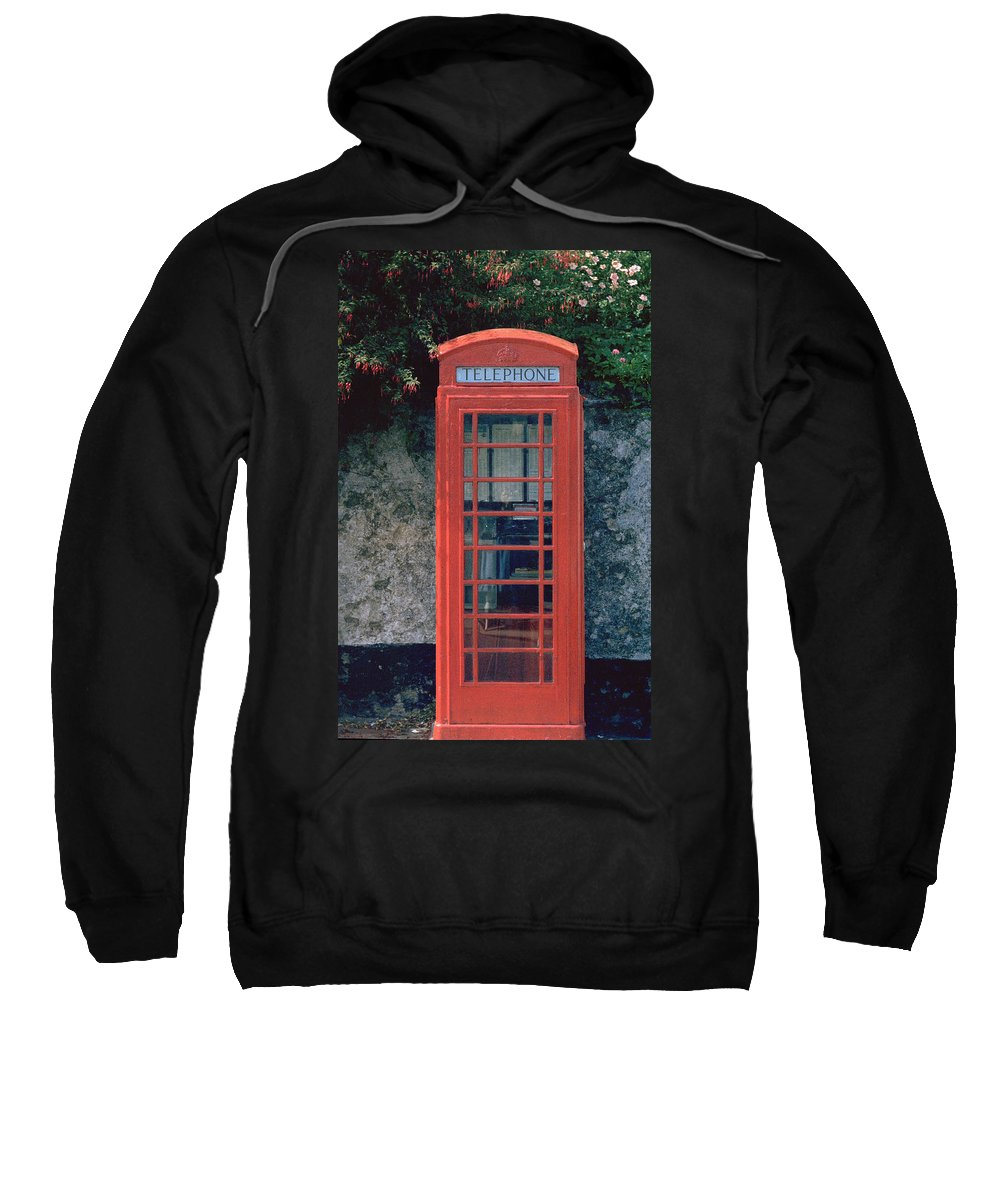 Great Britain Sweatshirt featuring the photograph Phone Booth by Flavia Westerwelle