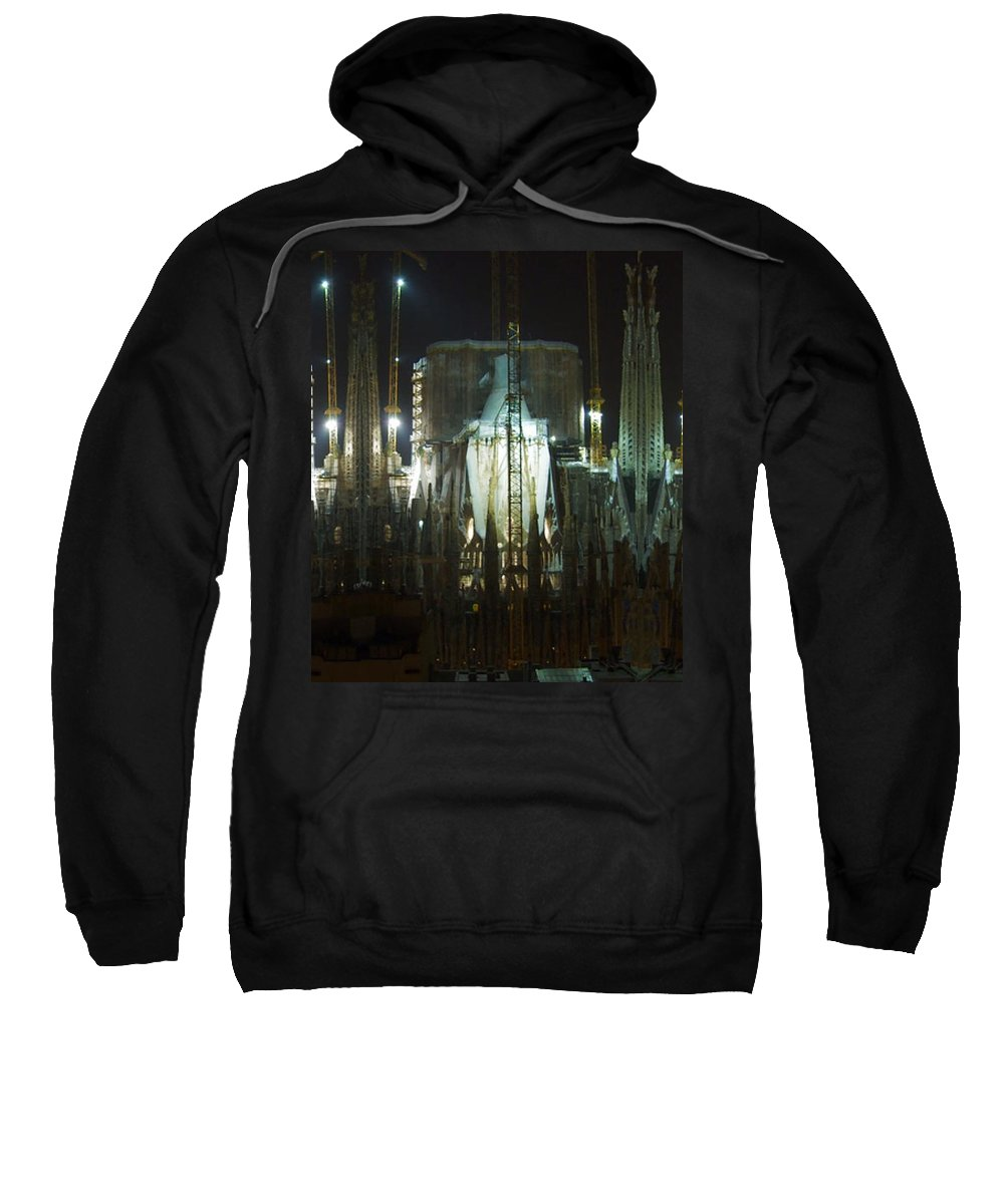 Sagrada Sweatshirt featuring the photograph Photography Lights N Shades Sagrada Temple Download For Personal Commercial Projects Bulk Printing by Navin Joshi
