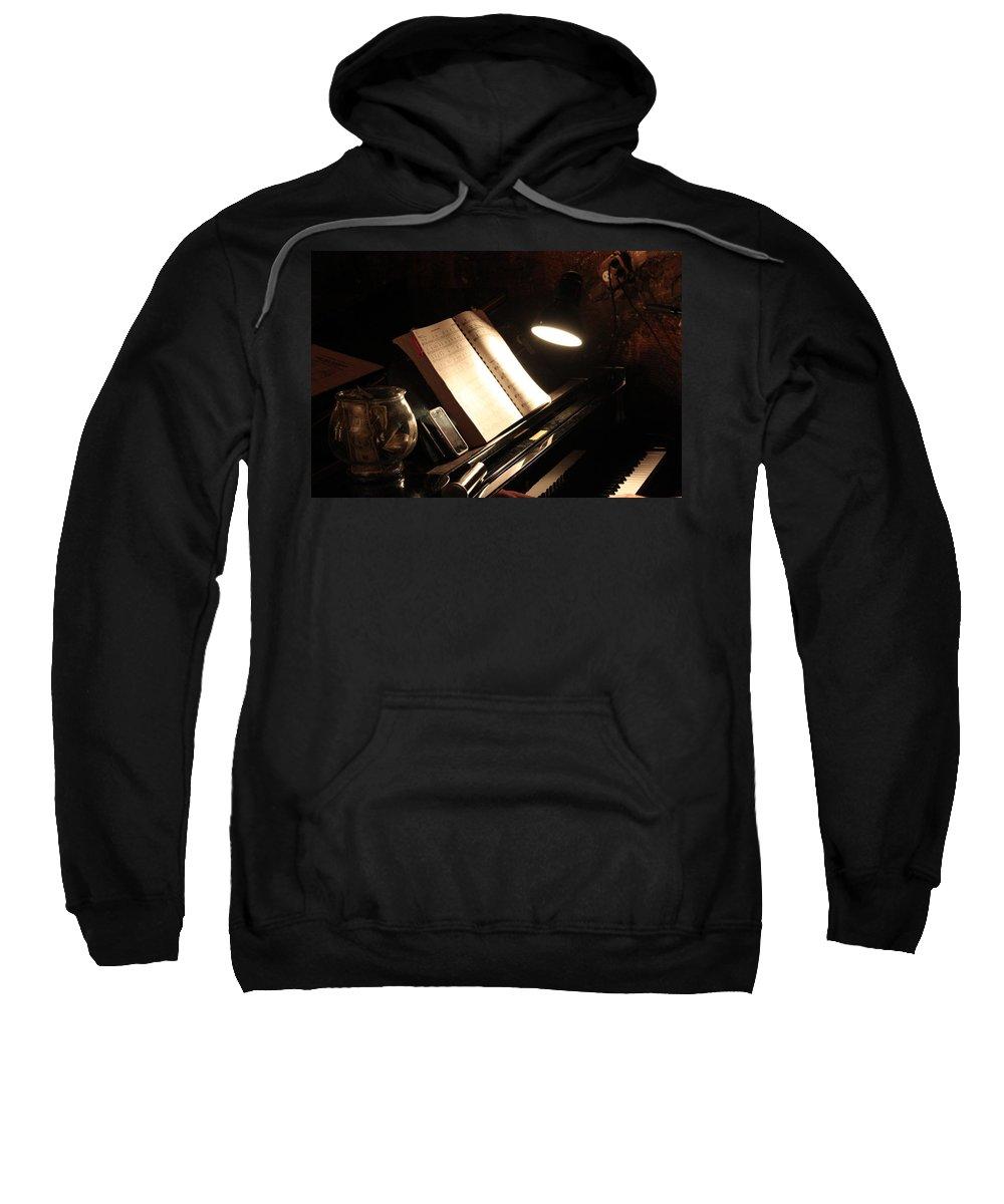 Piano Sweatshirt featuring the photograph Piano Bar by Lauri Novak
