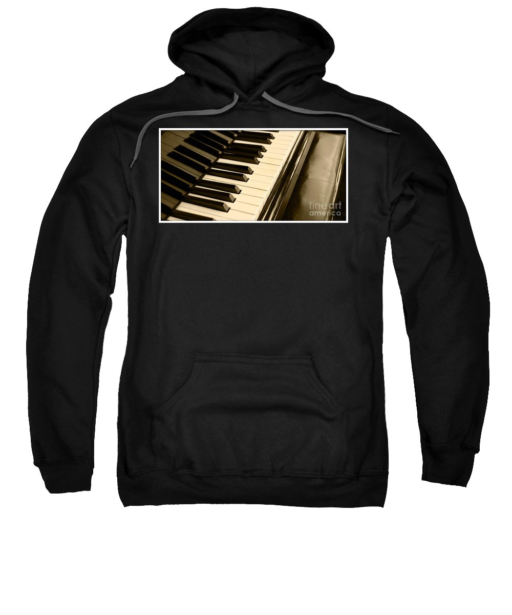 Piano Sweatshirt featuring the photograph Piano by Charuhas Images