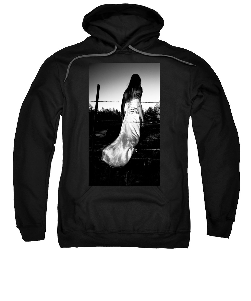 Torn Dress Sweatshirt featuring the photograph Pierced Dress by Scott Sawyer