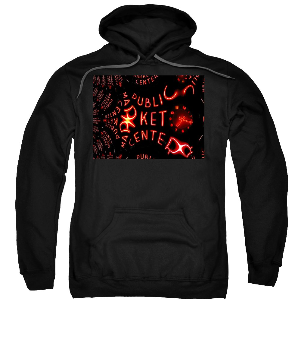 Seattle Sweatshirt featuring the photograph Pike Place Market Entrance 7 by Tim Allen