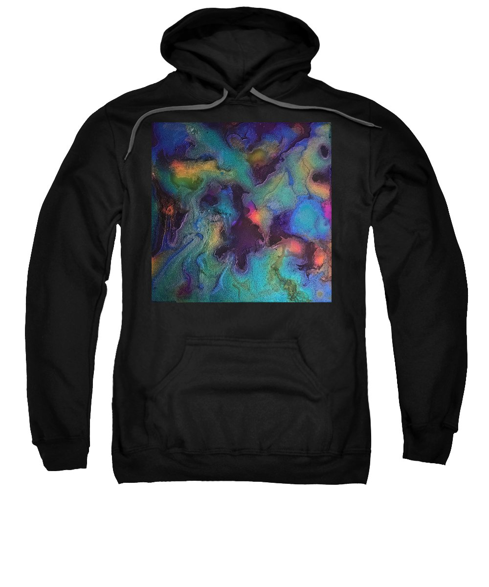 Stain Painting Sweatshirt featuring the painting Pinball Wizard by Susi Schuele