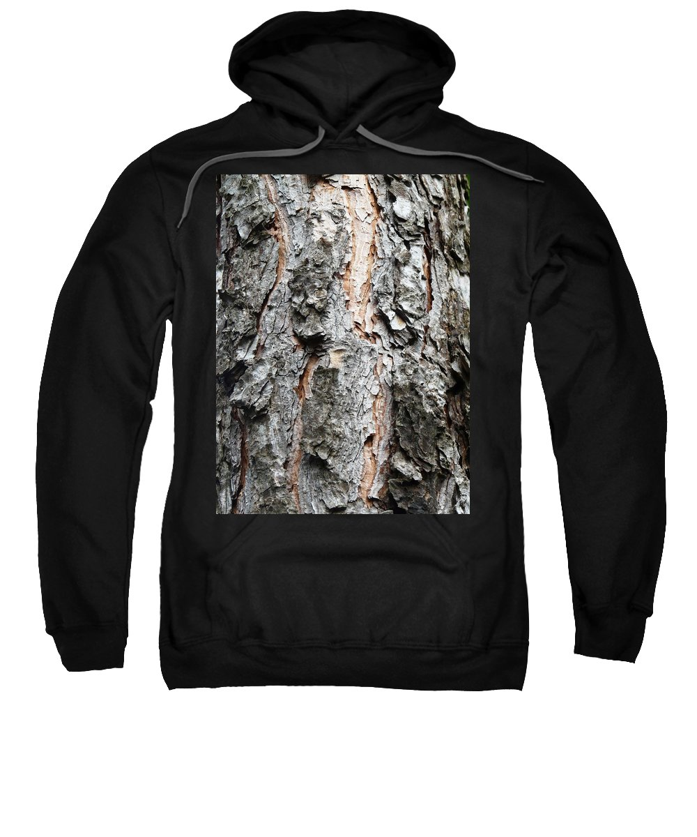 Pine Sweatshirt featuring the photograph Pine Bark by Valerie Ornstein