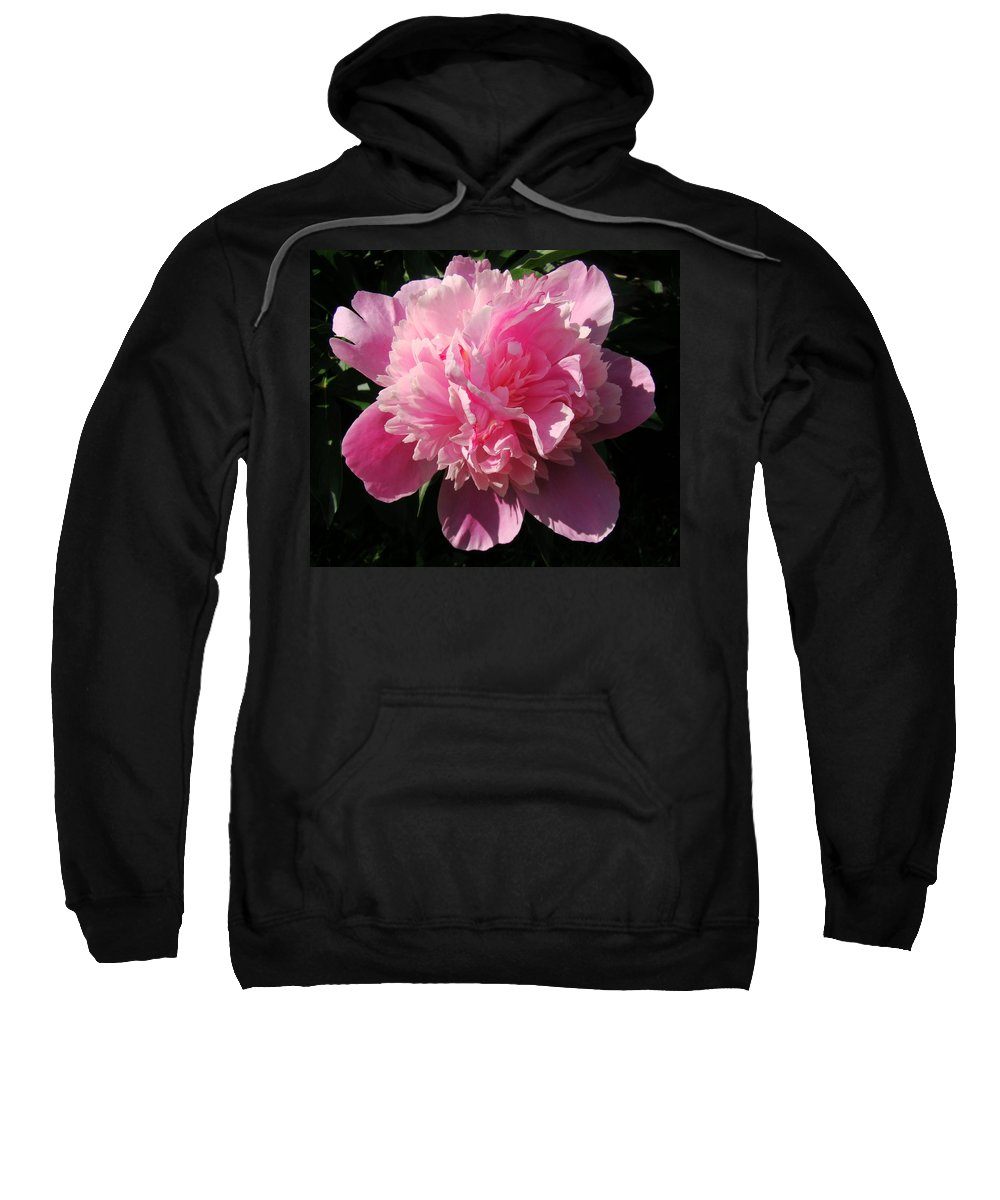 Flowers Sweatshirt featuring the photograph Pink Peony by Sandy Keeton