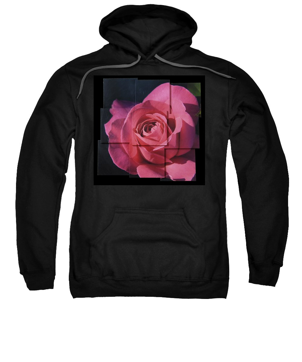 Rose Sweatshirt featuring the sculpture Pink Rose Photo Sculpture by Michael Bessler