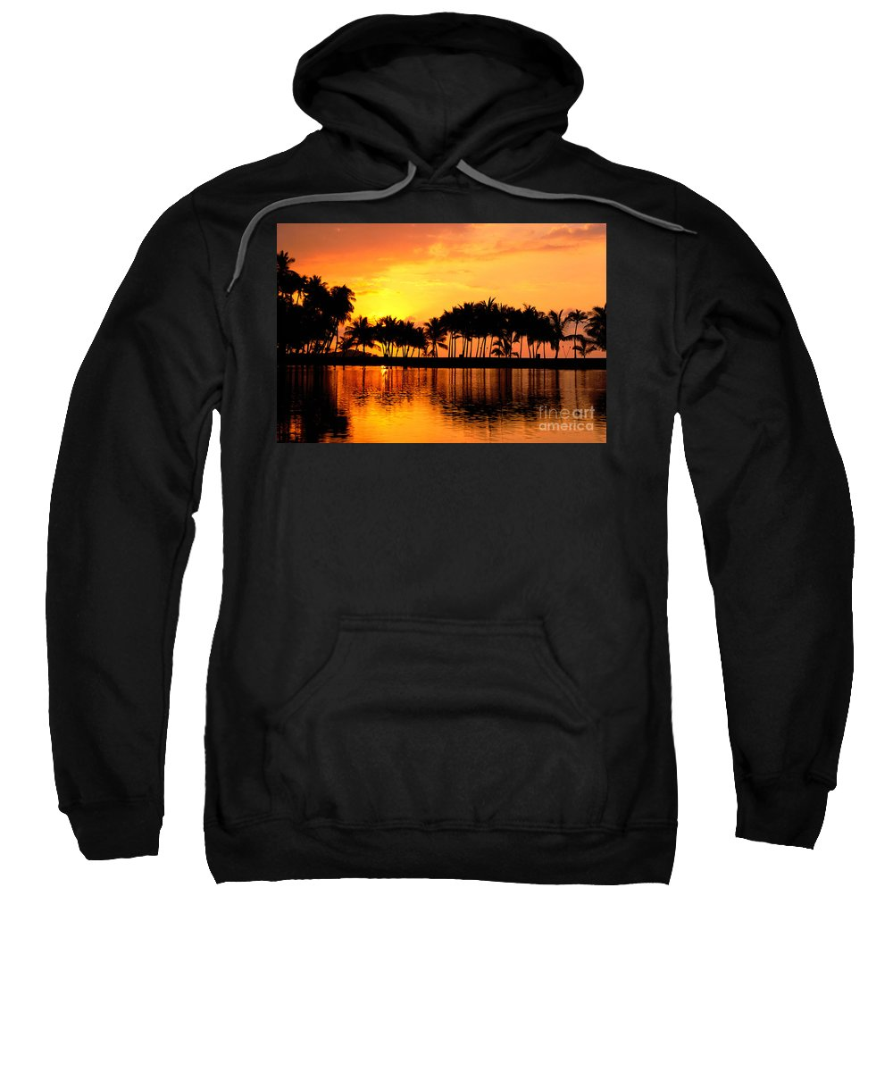 Big Sweatshirt featuring the photograph Pink Sunset And Palms by William Waterfall - Printscapes