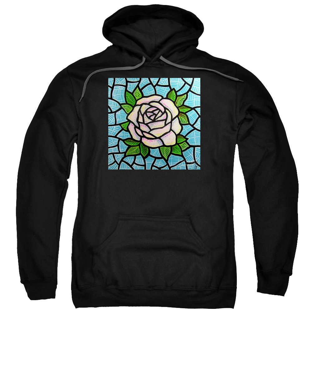 Rose Sweatshirt featuring the painting Pinkish Rose by Jim Harris