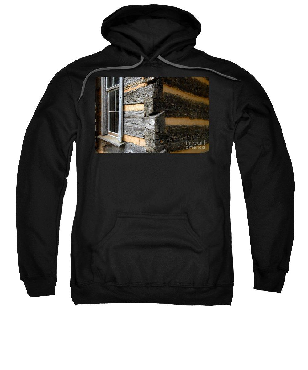 Cabin Sweatshirt featuring the photograph Pioneer Craftsmanship by David Lee Thompson