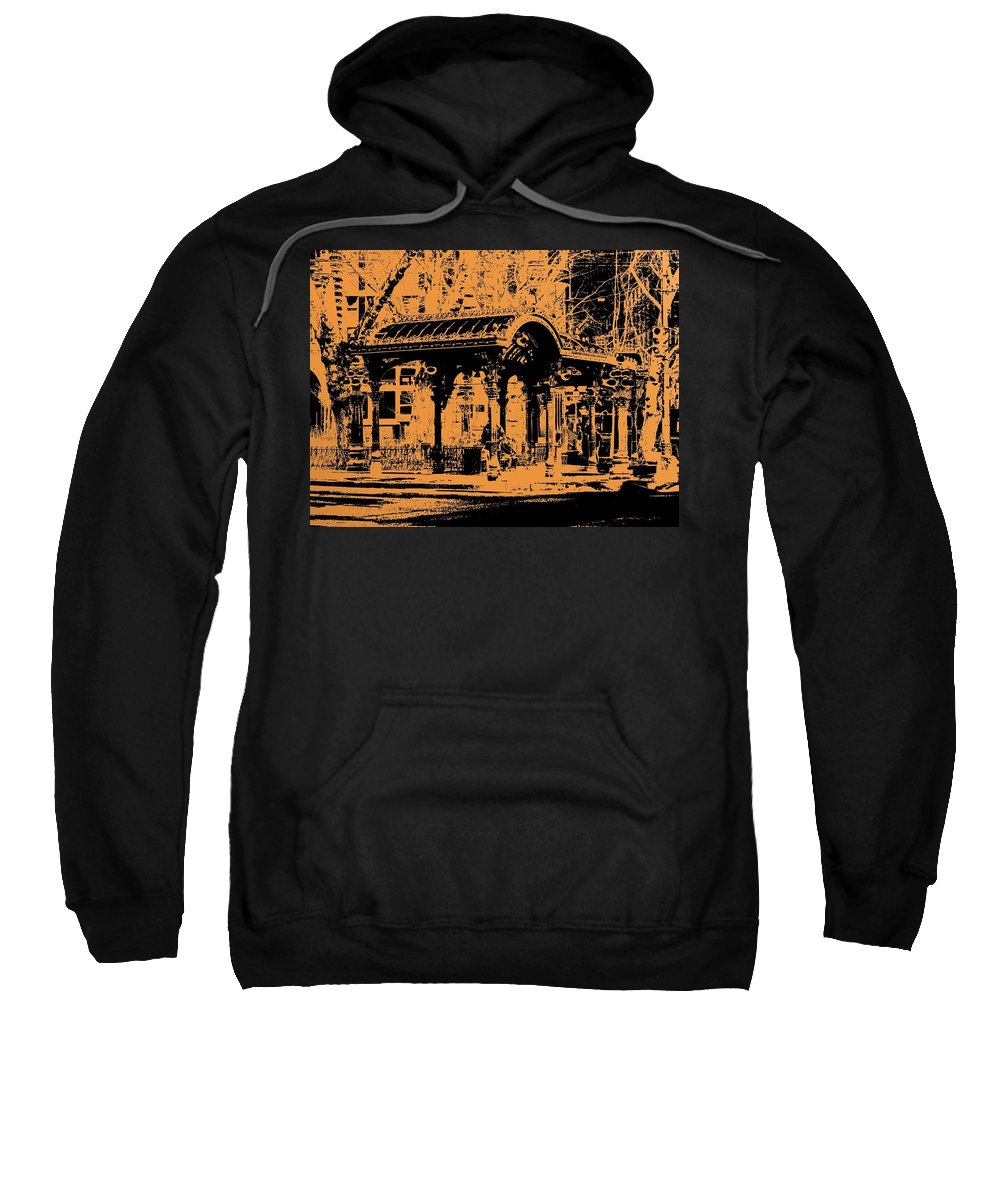 Seattle Sweatshirt featuring the digital art Pioneer Square Pergola by Tim Allen