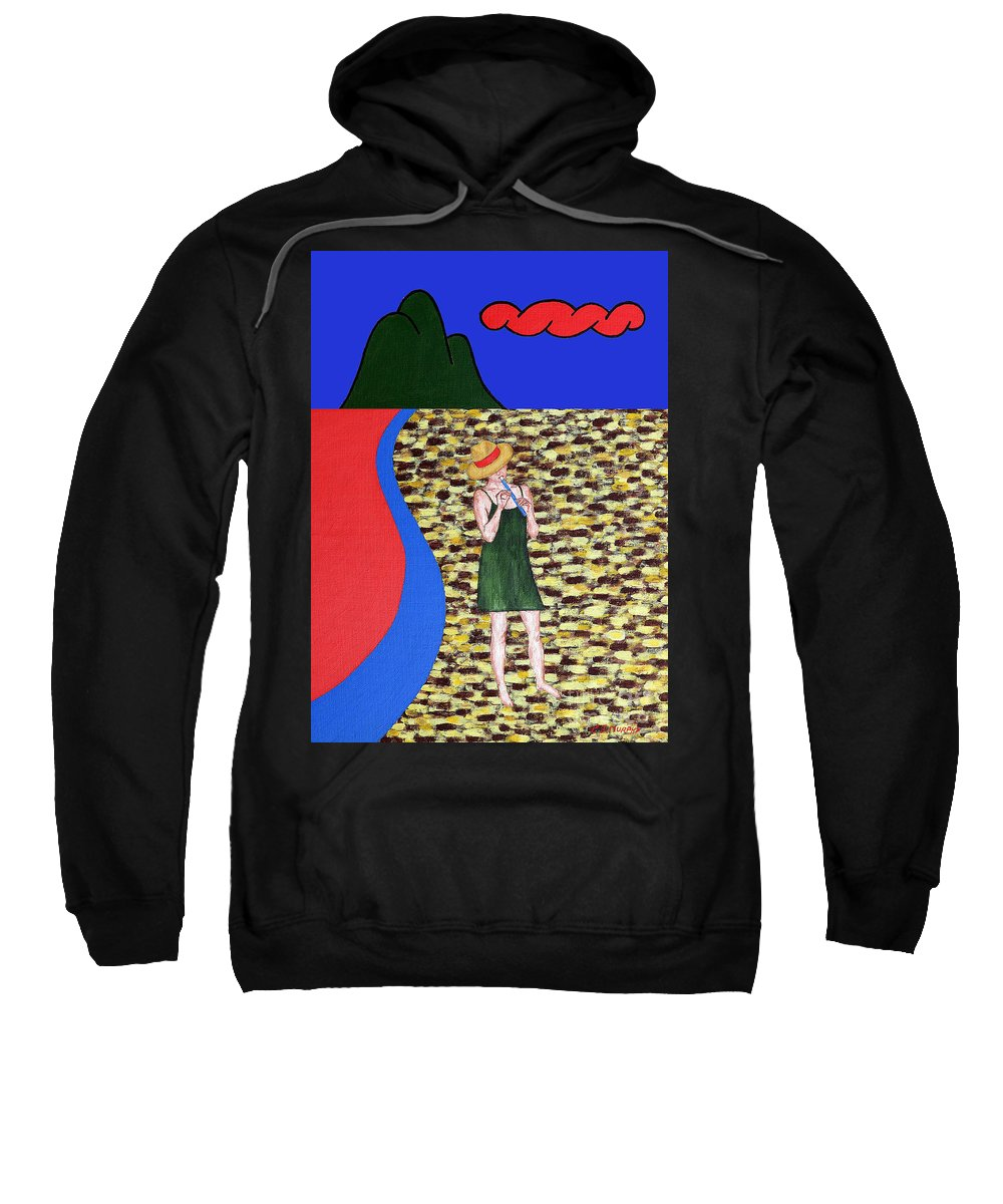 Piper Sweatshirt featuring the painting Piper 2 by Patrick J Murphy