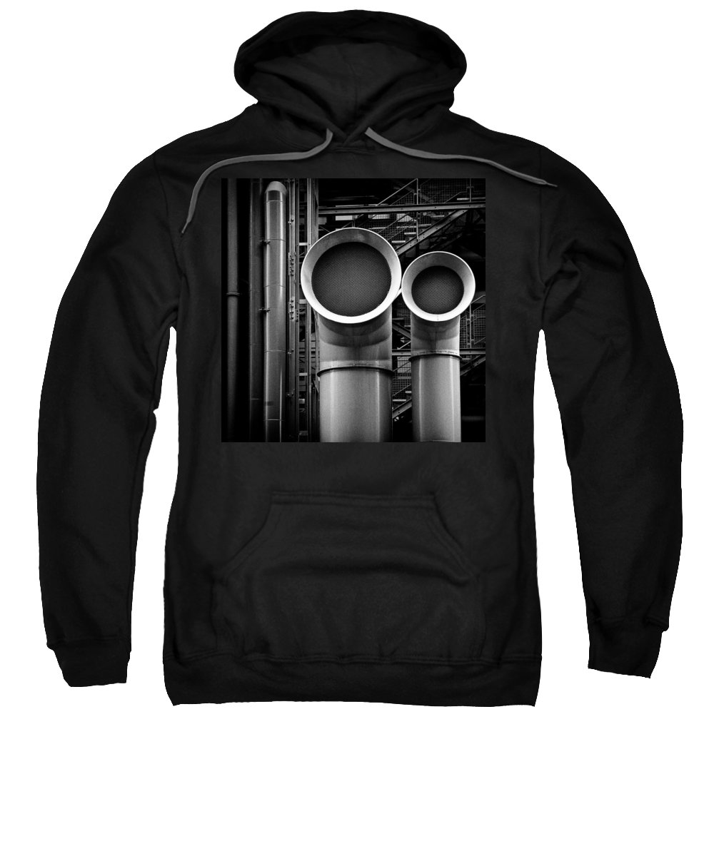 Industry Sweatshirt featuring the photograph Pipes by Dave Bowman