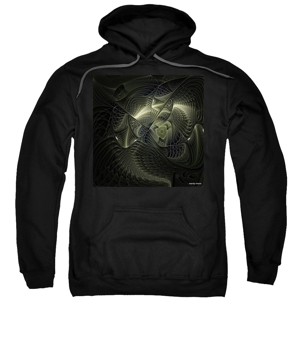 Digital Art Sweatshirt featuring the digital art Piscean I by Amanda Moore