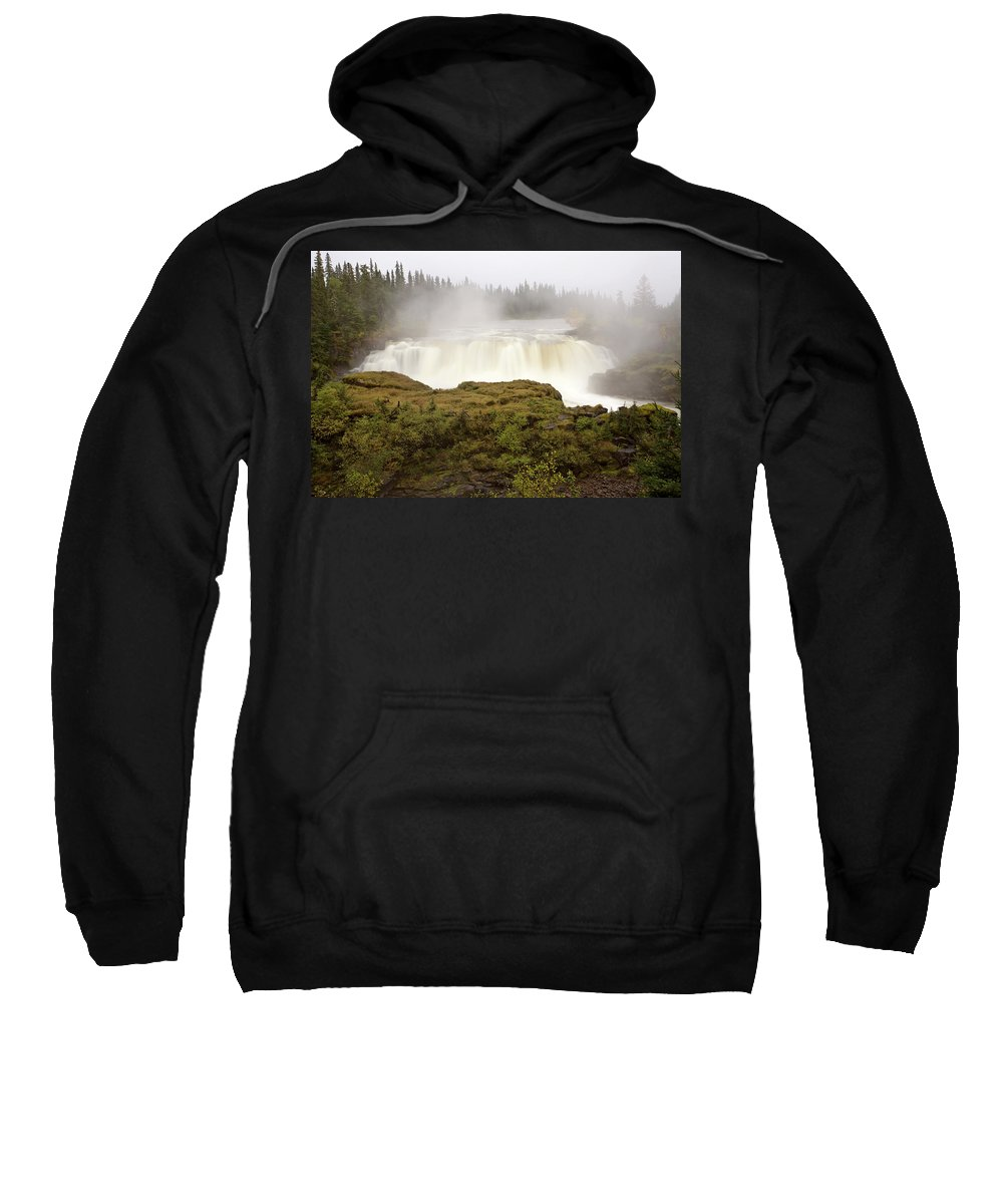 Water Sweatshirt featuring the digital art Pisew Falls Northern Manitoba Canada by Mark Duffy