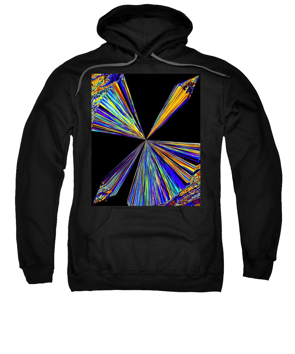 Abstract Sweatshirt featuring the digital art Pizzazz 21 by Will Borden