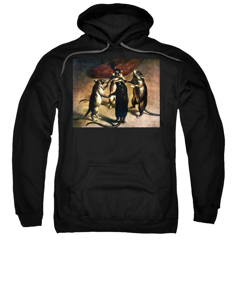 1800 Sweatshirt featuring the photograph Plague: Dance Of The Rats by Granger