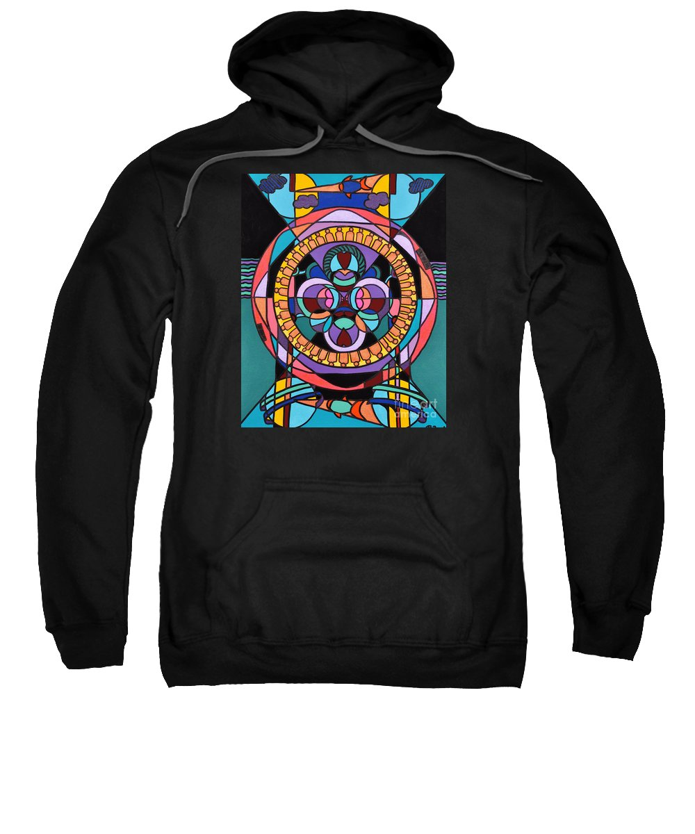 Surreal - Dream Works-mandala Sweatshirt featuring the painting Planet Earth by Reb Frost