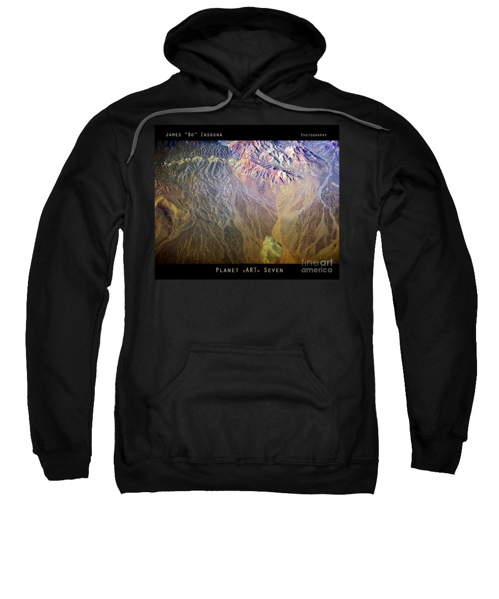 Abstract Sweatshirt featuring the photograph Planet Earth Seven by James BO Insogna