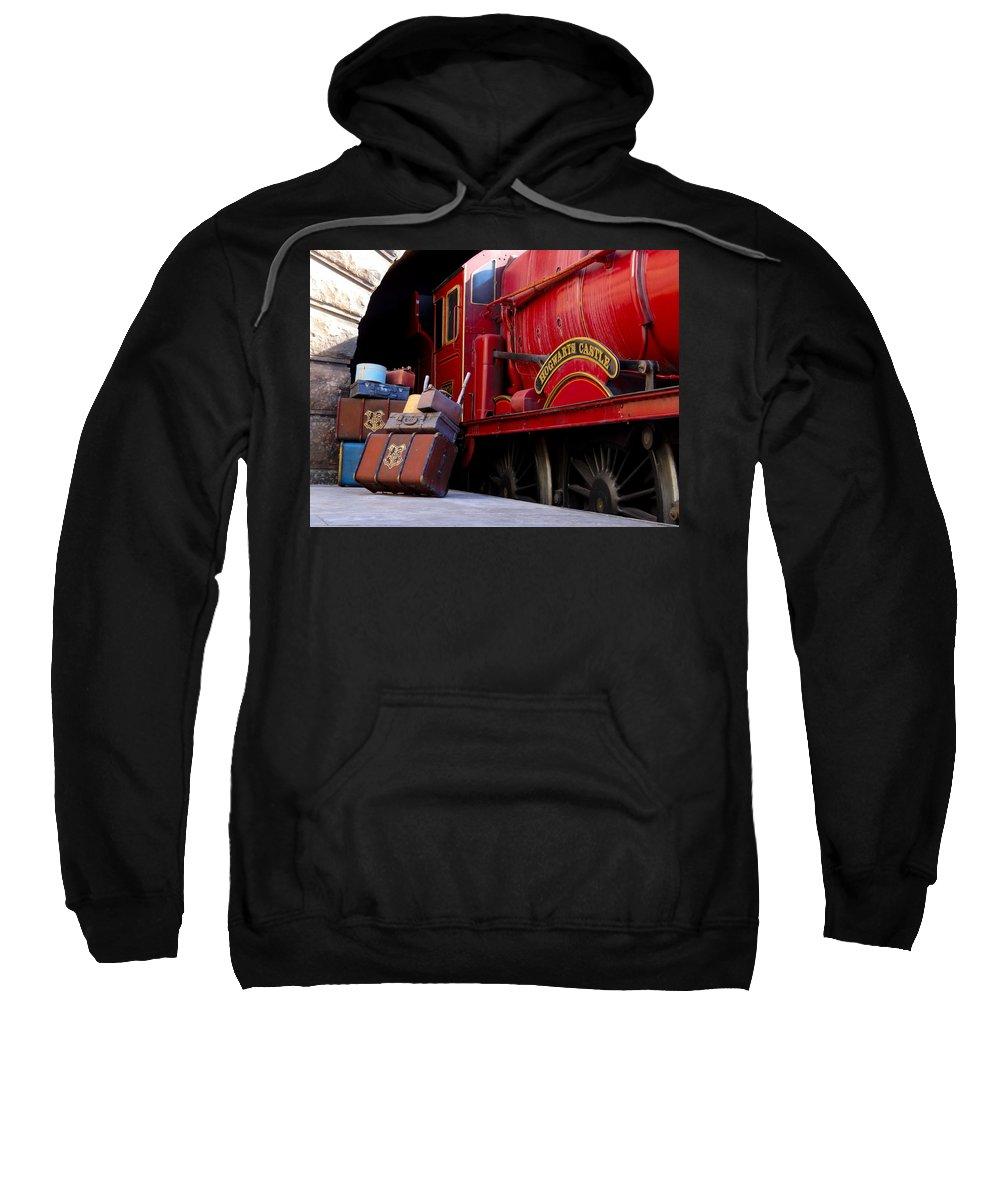 Train Sweatshirt featuring the photograph Platform Nine And Three Quarters by Julia Wilcox
