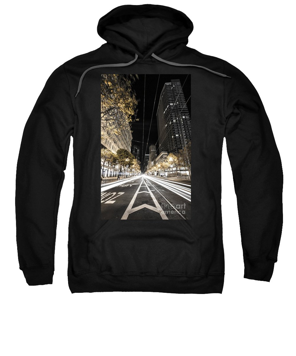 San Francisco Sweatshirt featuring the photograph Playing In Traffic by Digital Kulprits