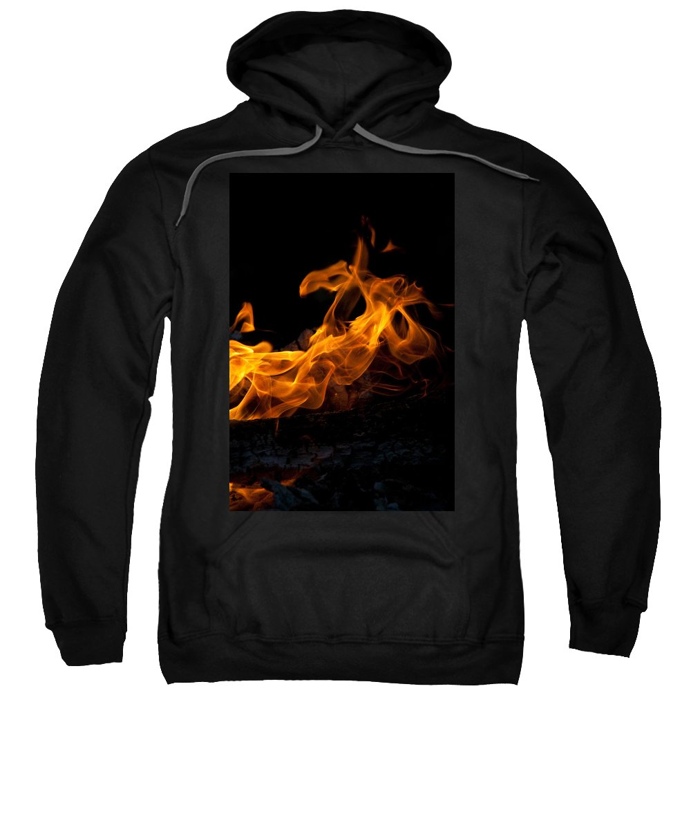 Night Sweatshirt featuring the photograph Playing With Fire by David Campbell