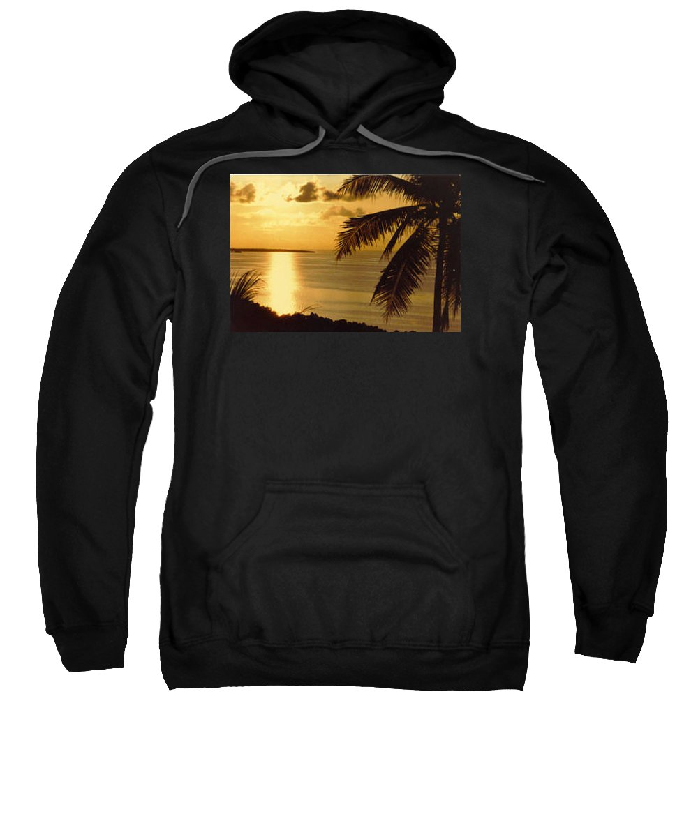 Palm Trees Sweatshirt featuring the photograph Pohnpei Sunset by Dina Holland