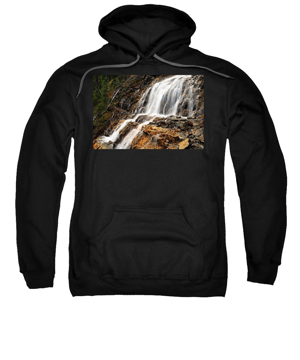 Point Lace Falls Sweatshirt featuring the photograph Point Lace Falls 1 by Larry Ricker