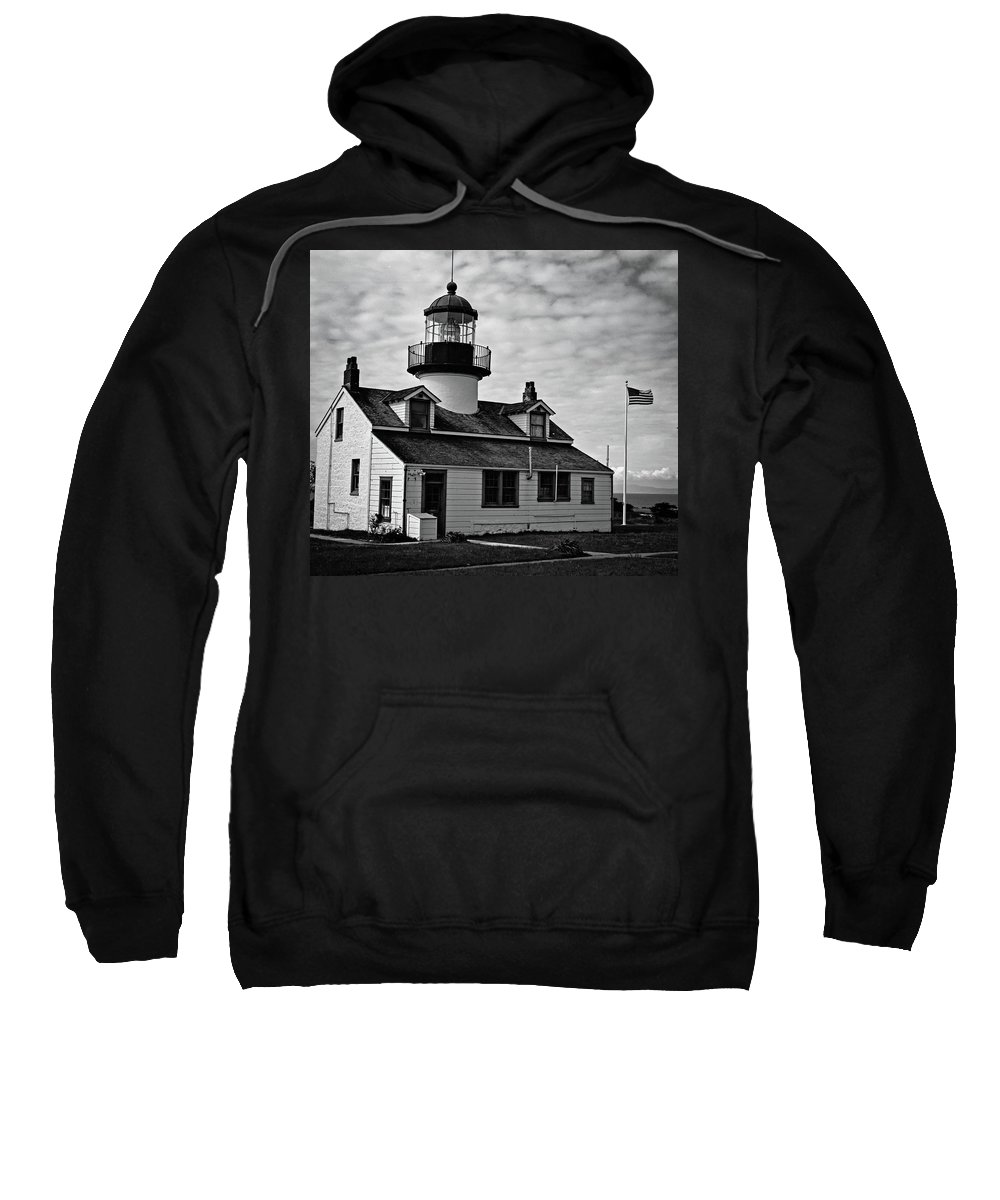 Pacific Grove Sweatshirt featuring the photograph Point Pinos Pacific Grove Lighthouse by Janine Moore