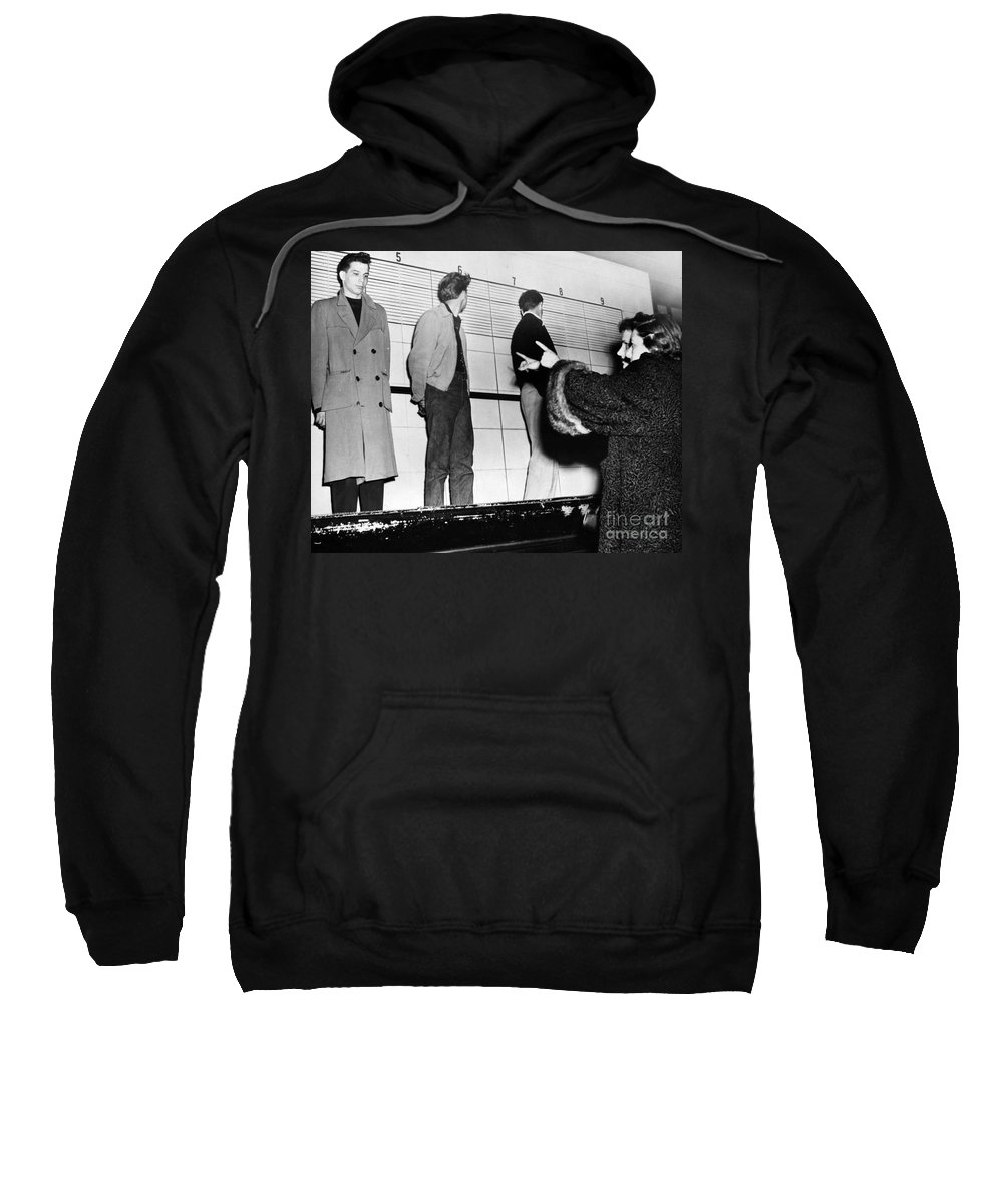 1953 Sweatshirt featuring the photograph Police Lineup, 1953 by Granger