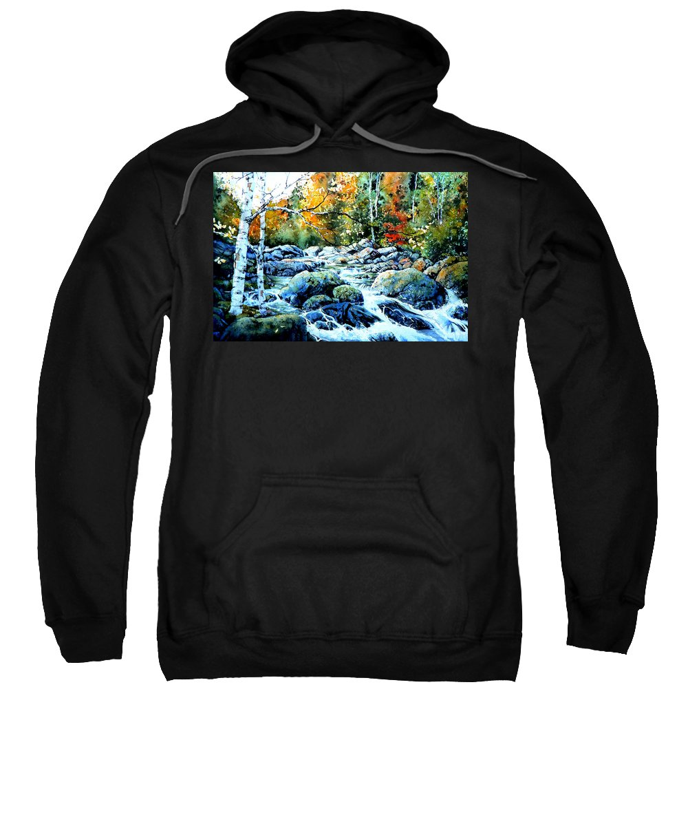 Landscape Sweatshirt featuring the painting Polliwog Clearing by Hanne Lore Koehler