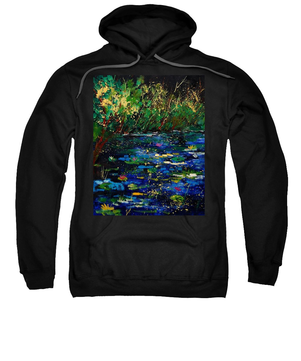 Water Sweatshirt featuring the painting Pond 459030 by Pol Ledent