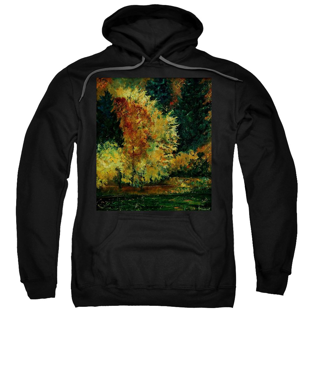 Landscape Sweatshirt featuring the painting Pond In Fenffe by Pol Ledent