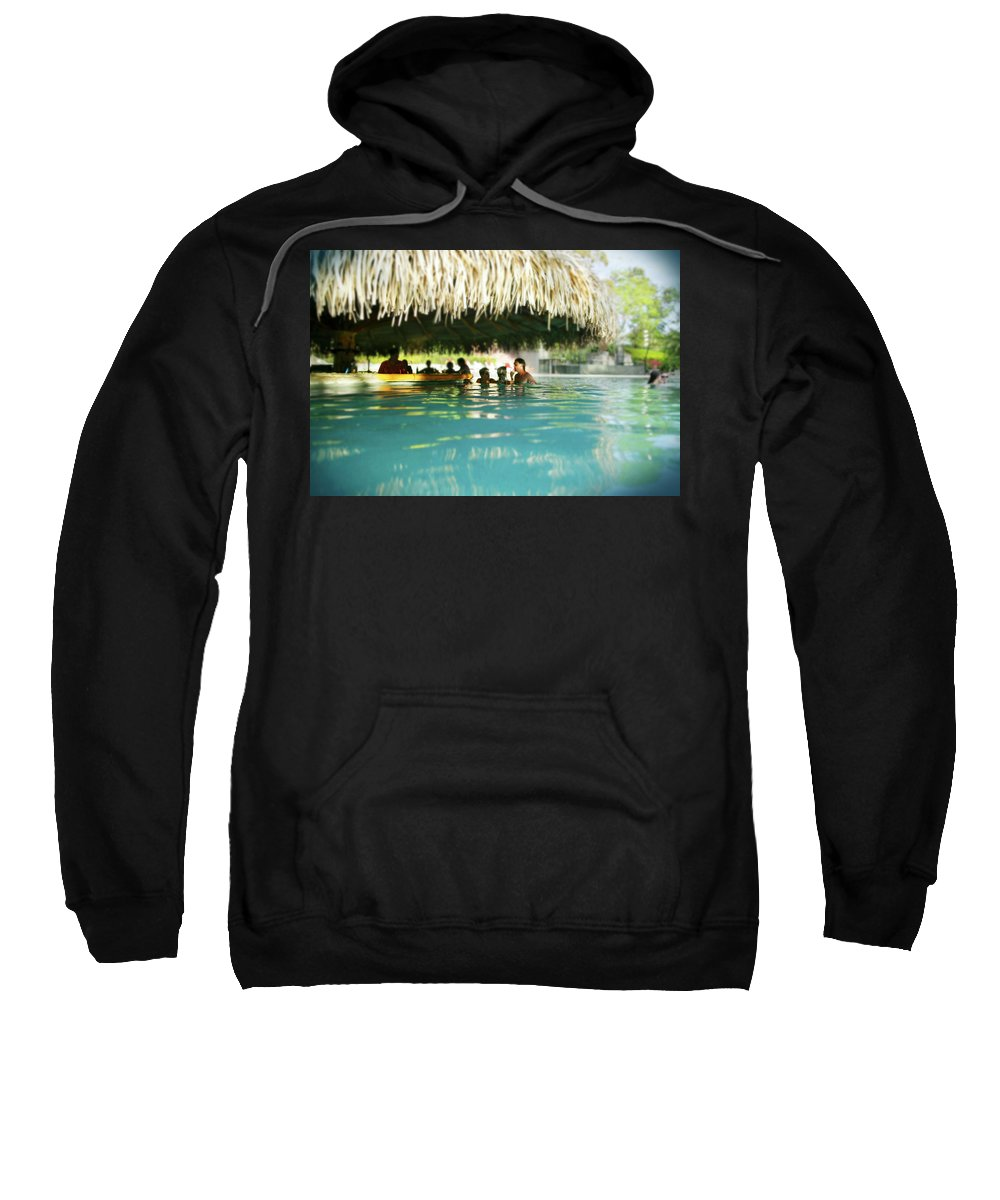 Tropical Pool Bar Sweatshirt featuring the photograph Pool Bar by Guy Crittenden