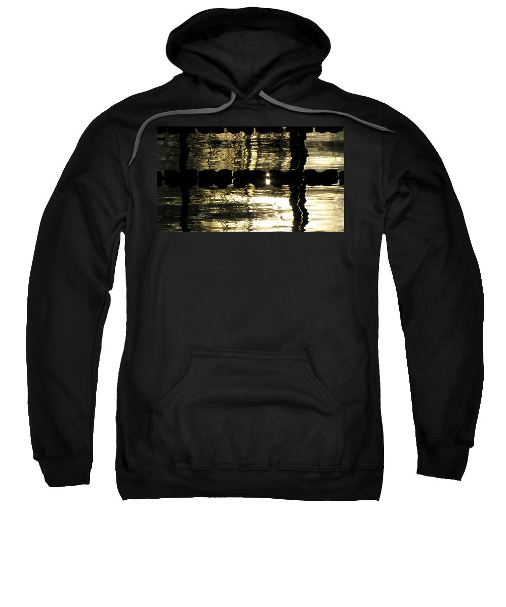 Swimming Sweatshirt featuring the photograph Pool Reflections Four by Sarah Houser