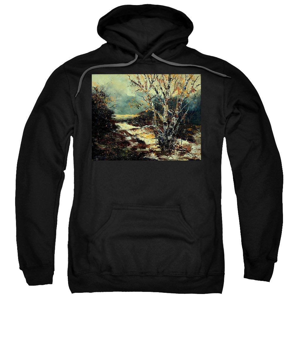 Tree Sweatshirt featuring the painting Poplars 45 by Pol Ledent