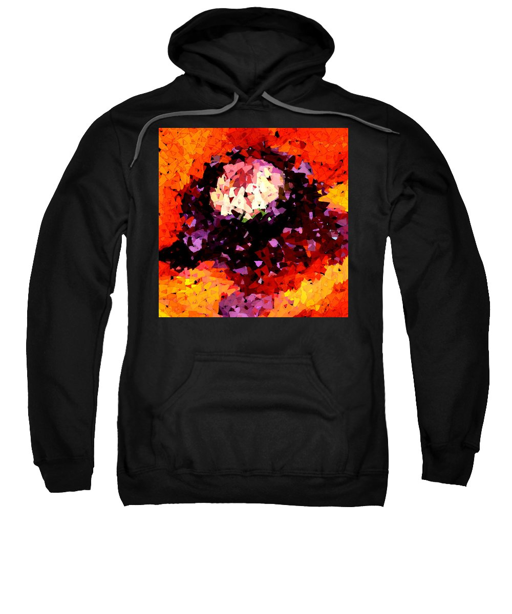 Digital Sweatshirt featuring the digital art Poppy Mosaic by Karon Melillo DeVega
