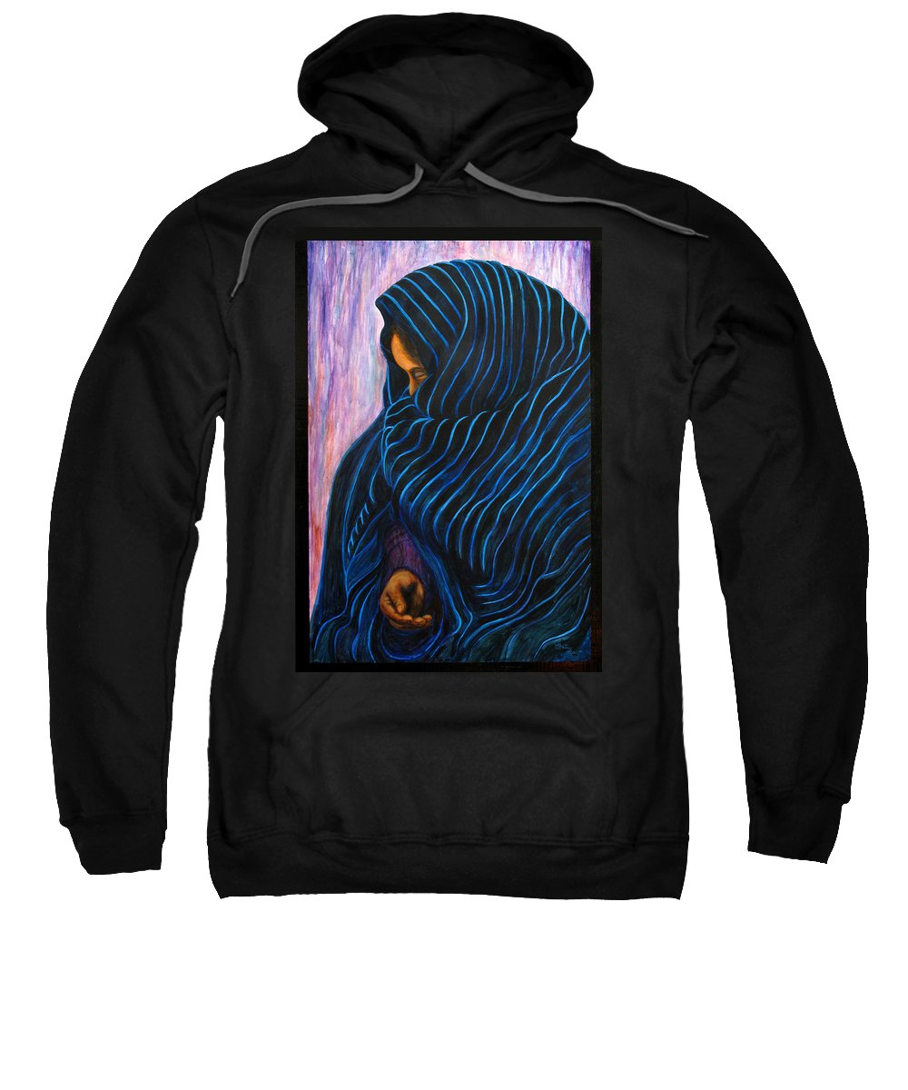 Mexican Sweatshirt featuring the painting Por Favor by Pat Haley