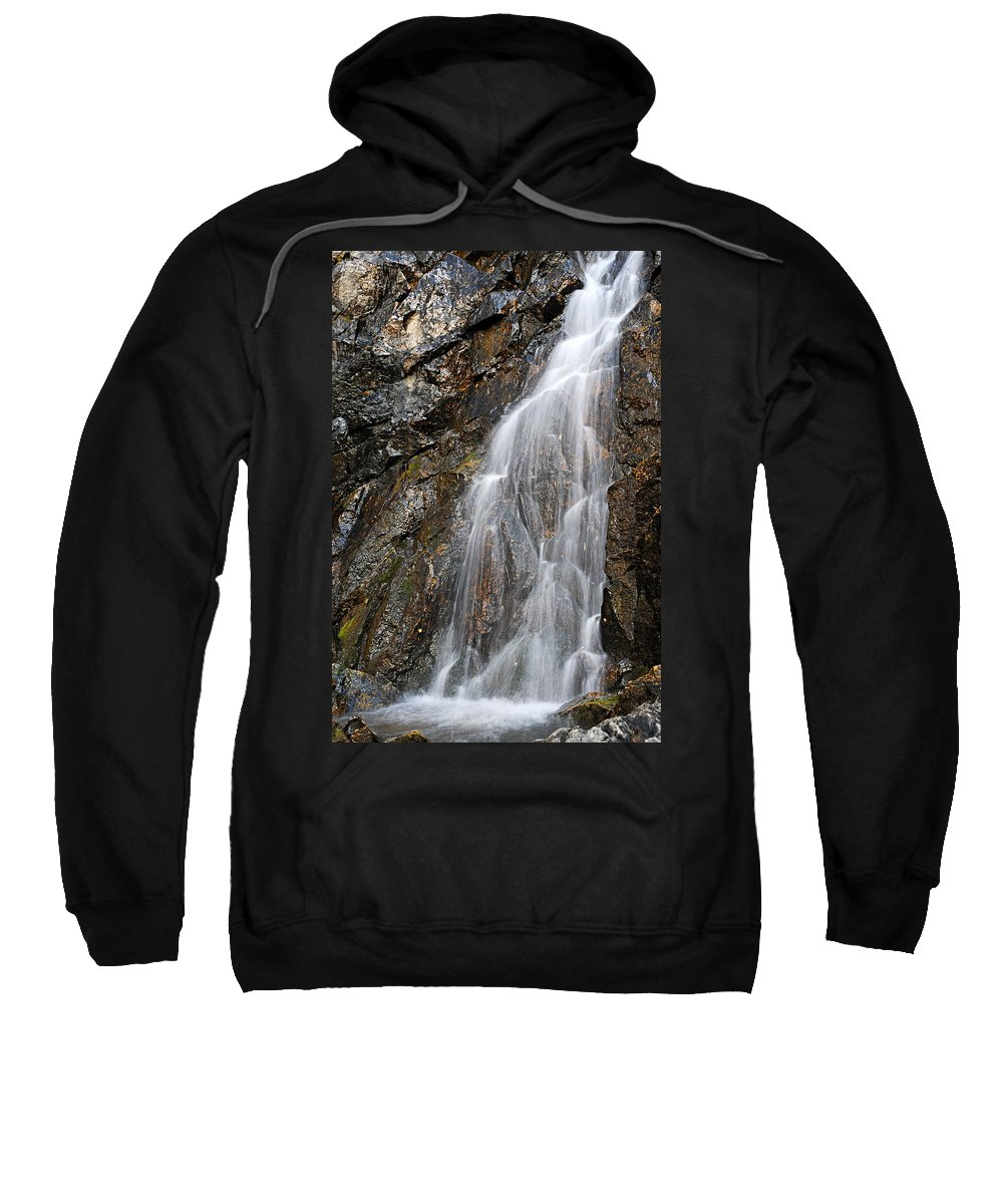 Porcupine Falls Sweatshirt featuring the photograph Porcupine Falls Side Chute by Larry Ricker