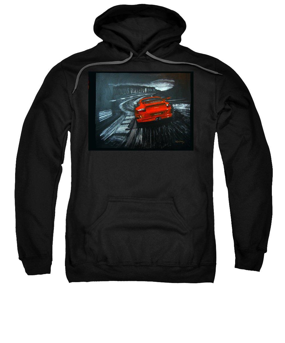 Porsche Sweatshirt featuring the painting Porsche Gt3 Le Mans by Richard Le Page