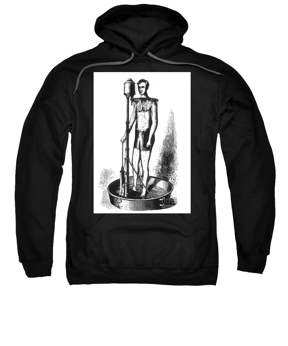 Science Sweatshirt featuring the photograph Portable Shower Bath 1880 by Science Source
