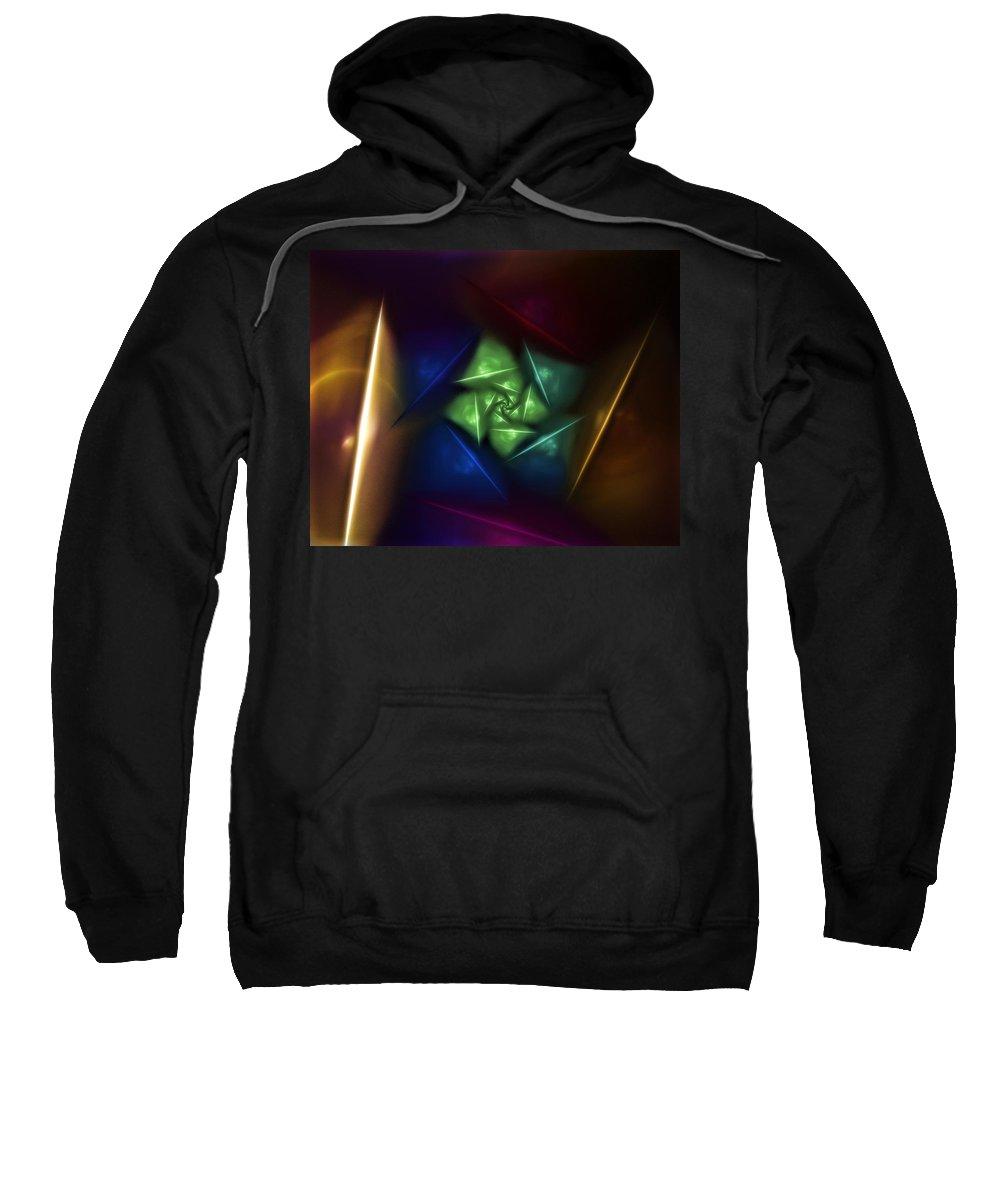 Digital Painting Sweatshirt featuring the digital art Portal 2 by David Lane