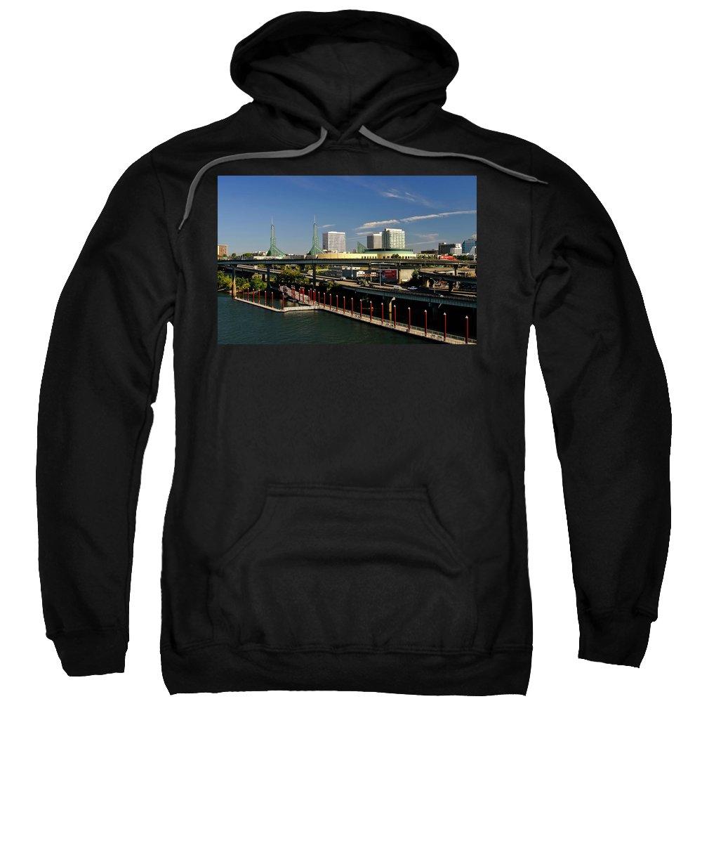 Portland Sweatshirt featuring the photograph Portland East Bank by Albert Seger