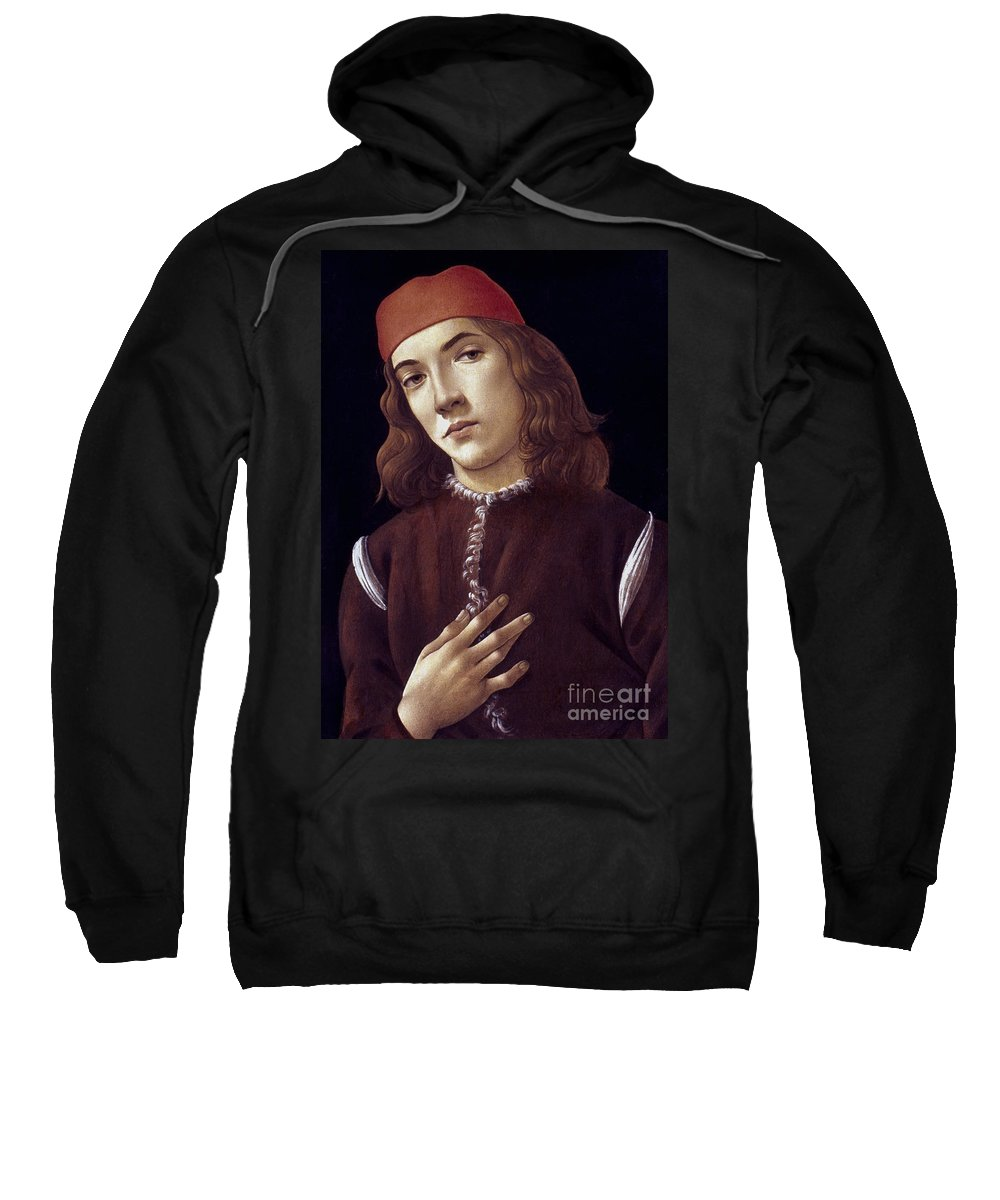 1480 Sweatshirt featuring the photograph Portrait Of A Youth by Granger