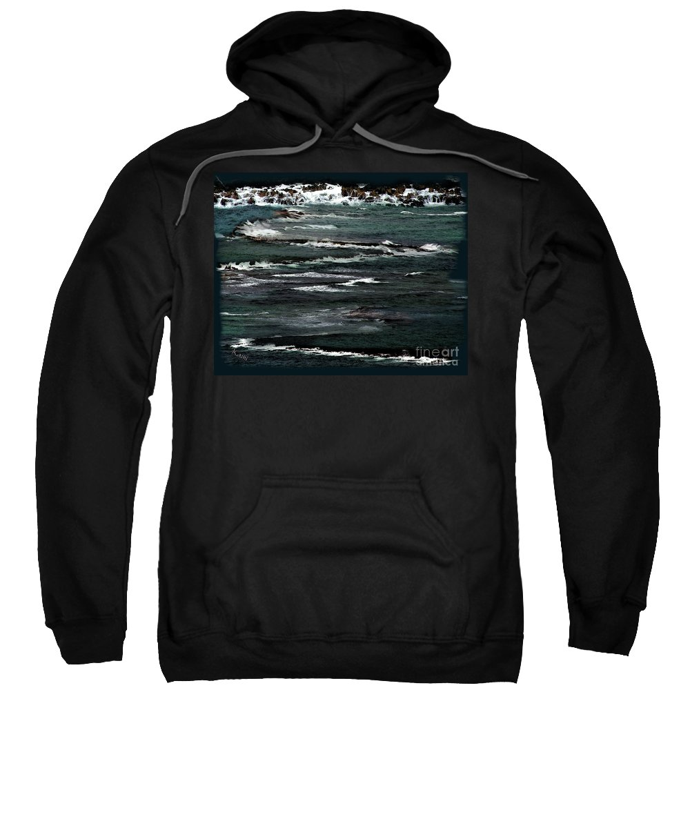 Water Sweatshirt featuring the photograph Poseidon by Kami Catherman