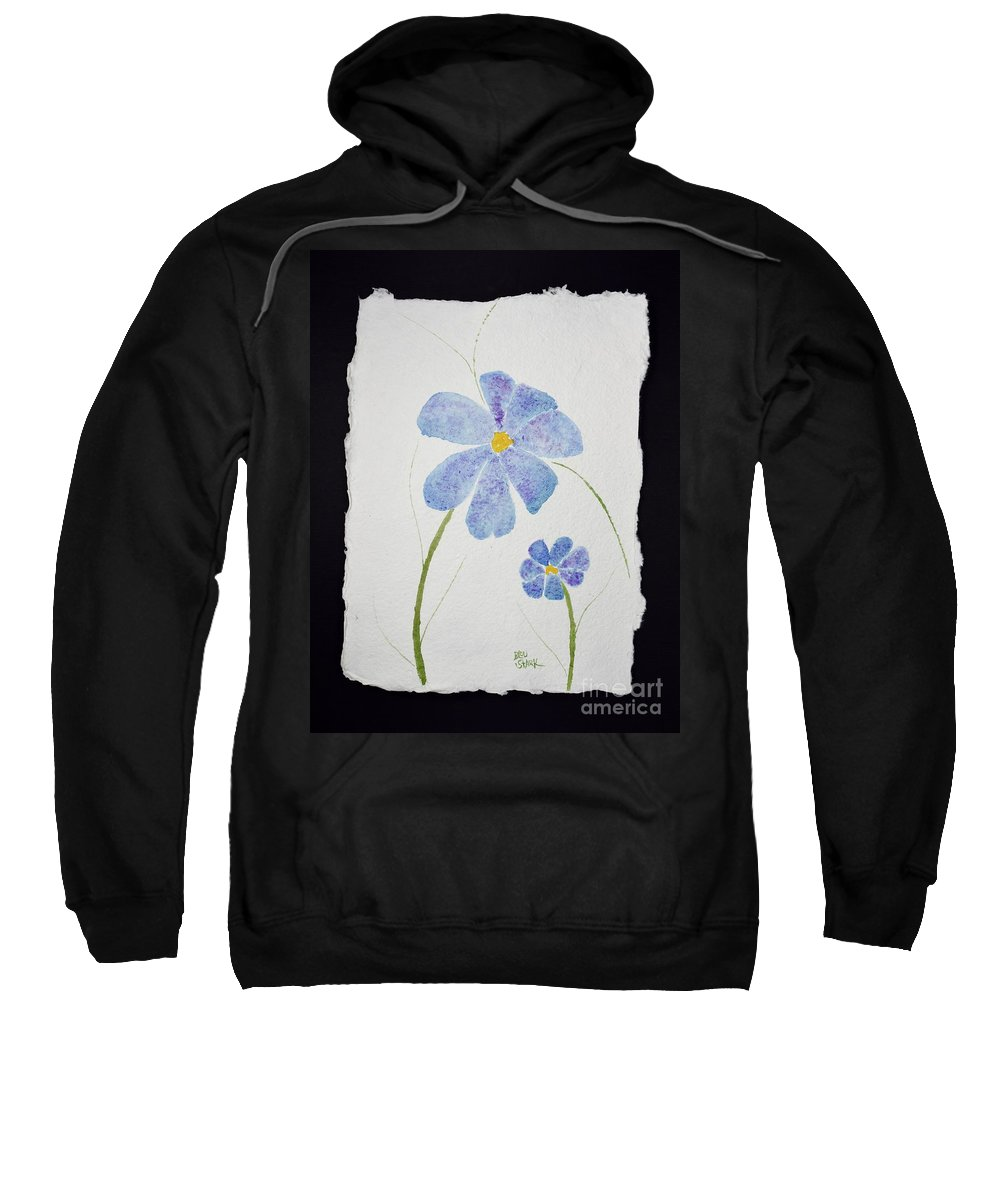Sweatshirt featuring the painting Posies by Barrie Stark